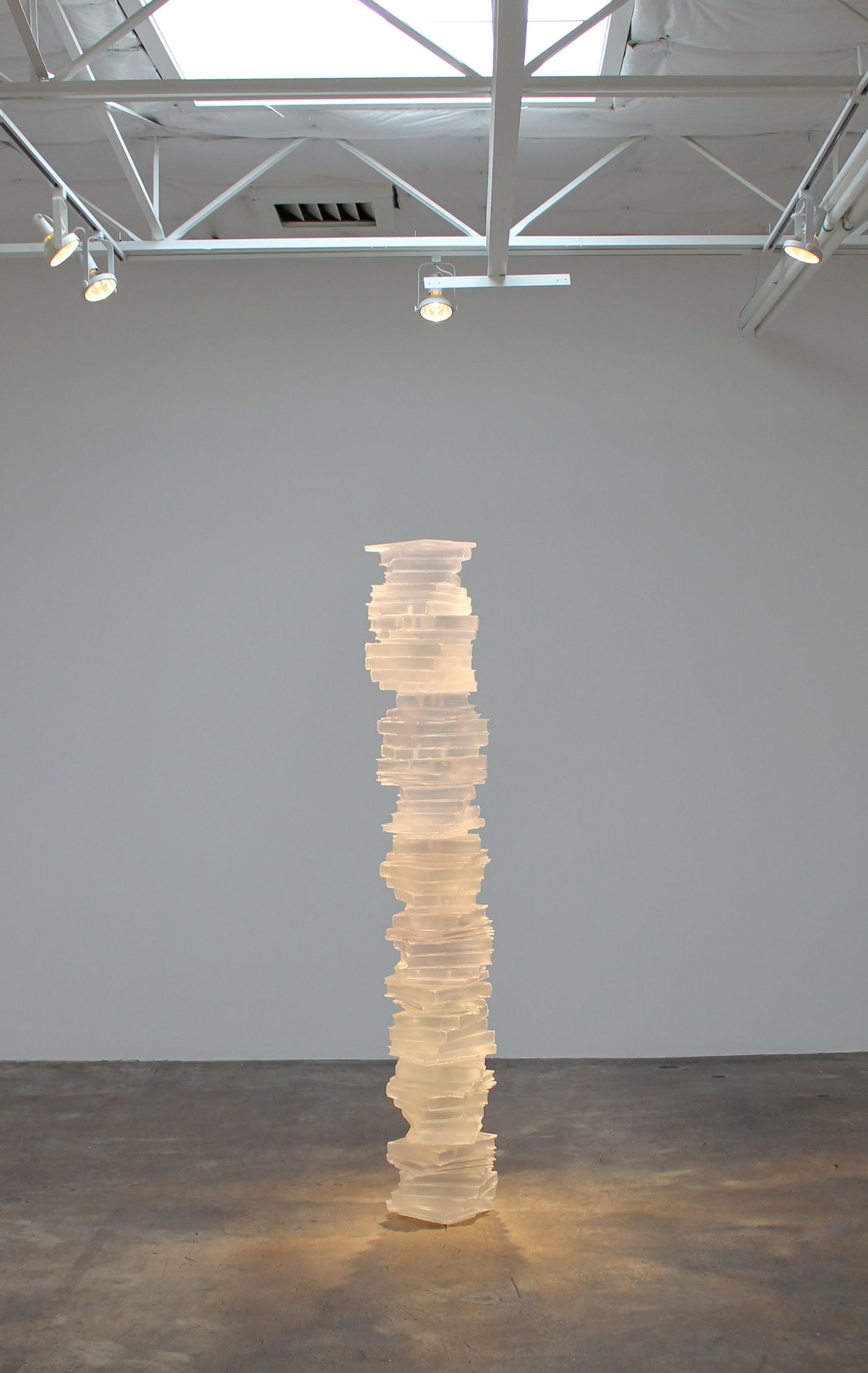 Joseph Havel, Endless (transparent), 2013-2014, cast polyurethane resin, 84 x 15 x 14 inches