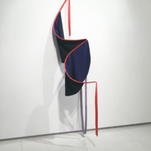 Katy Heinlein, Render, 2016, cloth, aluminum, and wood, 6 x 2 x 2 feet, courtesy of the artist and Art Palace Gallery, Houston, TX