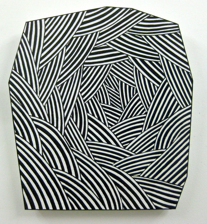 John Parot, Rock, 2012, acrylic and enamel on asphalt felt, 38 x 36 inches. Image courtesy of cargocollective.com