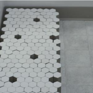 Martha Schlitt, Bathroom Floor in progress, 2012-2015, cardboard, plaster. Image courtesy of www.marthaschlitt.com