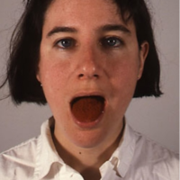 Martha Schlitt, Self-portrait with Paprika, 1994, photograph, 8 x 10 inches. Image courtesy of www.marthaschlitt.com