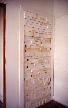 Martha Schlitt, Doorway, University of Illinois at Chicago, 1992, Plaster, hydrocal, site specific. Image courtesy of www.marthaschlitt.com