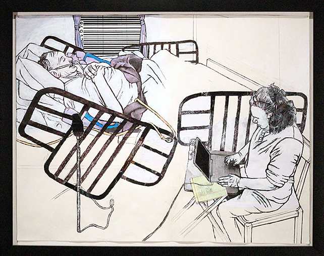 Darrel Morris, Figuring, 2013, drawing/collage, 15 x 19 3/4 inches. Image courtesy of www.packergallery.com