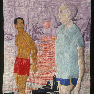 Darrel Morris, Untitled (of ages), embroidery and appliqué, 11.5 x 9.75 inches. Image courtesy of www.packergallery.com