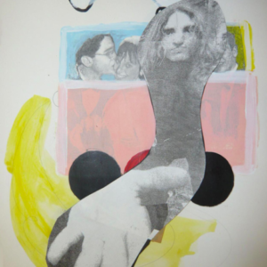 Meg Cranston, Stoney End, 2011, mixed media, collage on paper, 14 x 11 inches. Image courtesy of www.galeriemichaeljanssen.de