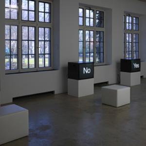 Michaela Eichwald / Meg Cranston - Neuer Aachener Kunstverein, Aachen, 2009, Installation view. Image courtesy of www.galeriemichaeljanssen.de