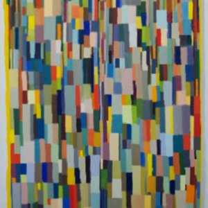 Joe Baldwin, Small Shape, 2002, oil on shaped canvas, 40 x 30 inches