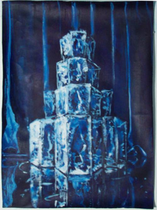 Joe Baldwin, Ice House, 2002, oil on canvas, 38 x 28 ½ inches