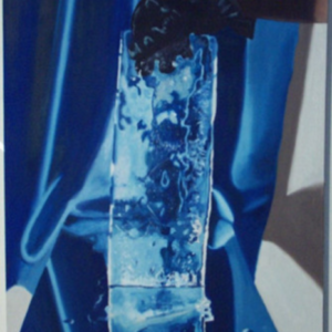 Joe Baldwin, Ice Painting, 2001, oil on canvas, 38 x 28 inches. Image courtesy of moniquemeloche.com
