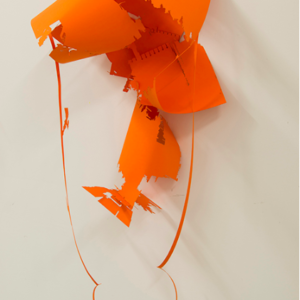 Tom Denlinger, EkstaticEdgewater, Jarvis-4_A-typical Formation, 2015, rag paper, 42 x 17 x 12 inches