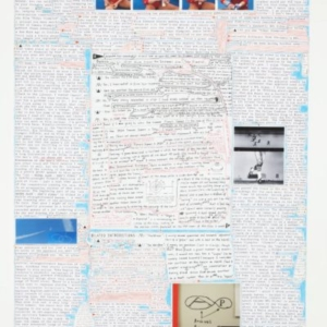 Matthew Sontheimer, Shooting Games (left), 2012, diptych, mixed media on paper, Left panel: 22 x 14 inches