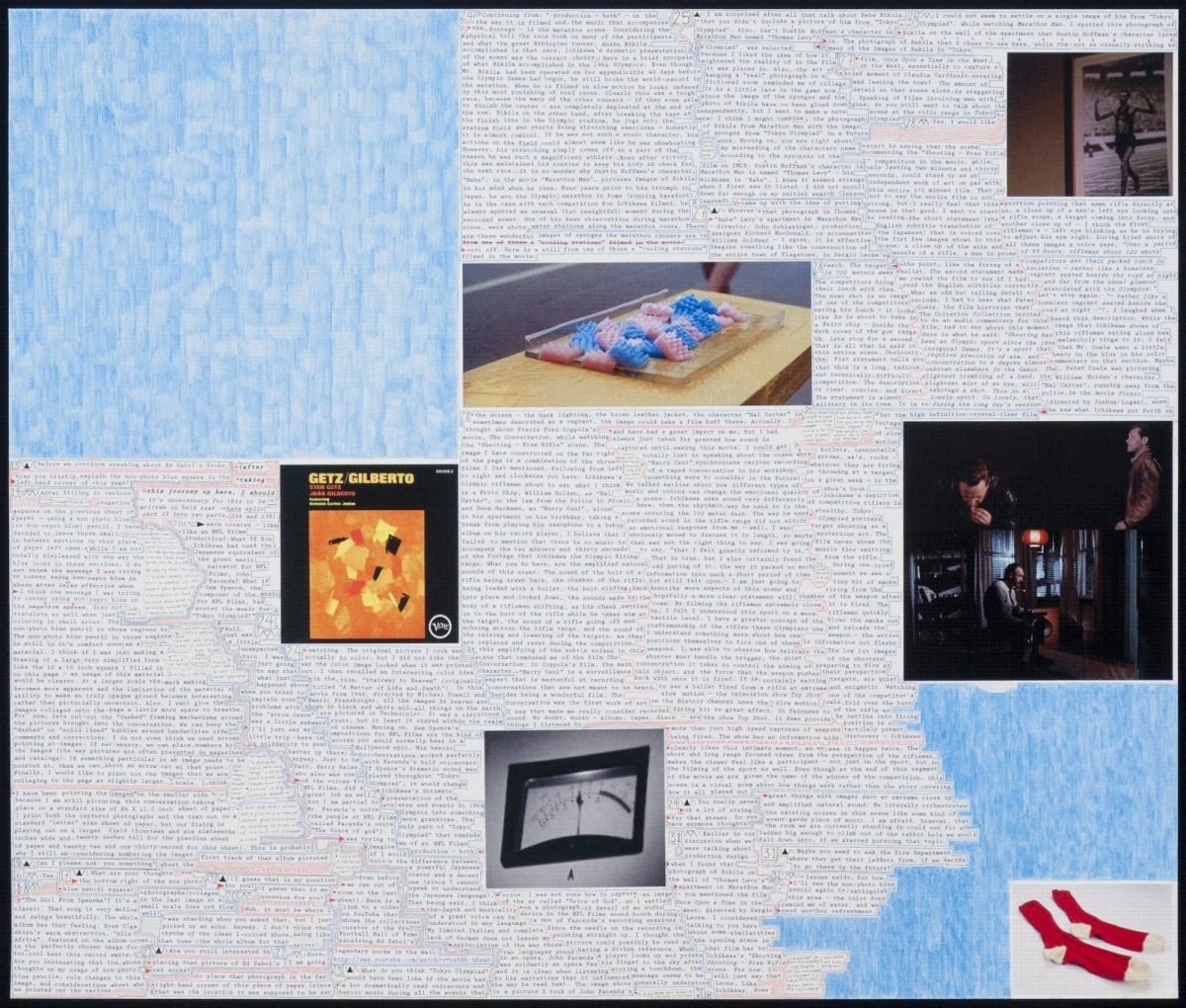 Matthew Sontheimer, Shooting Games (right), 2012, diptych, mixed media on paper, Right panel: 22 x 26 inches