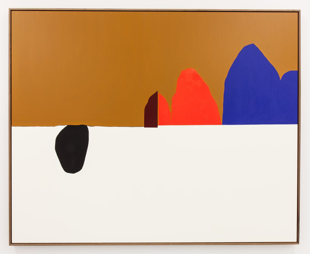 Clare Rojas, Untitled, 2014, oil on linen, 68 x 84 inches