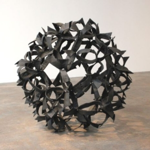 Joseph Havel, Thistle 1, 2015-2016, bronze with patina, unique, 37 ½ x 37 x 29 inches