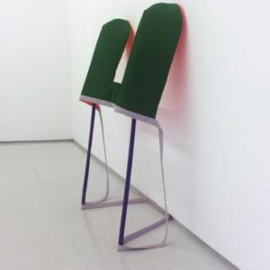 Katy Heinlein, Vape, 2016, cloth, aluminum and wood, 5 x 4 x 2 feet, courtesy of the artist and Art Palace Gallery, Houston, TX