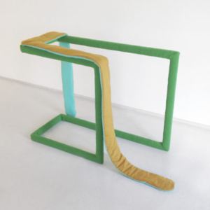 Katy Heinlein, Workaround, 2014, cloth, polyester and wood, 30 x 48 x 22 inches, courtesy of the artist and Art Palace Gallery, Houston, TX