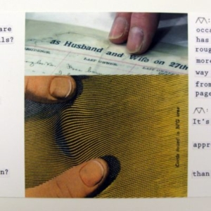 Matthew Sontheimer, Working Model, 2012, mixed media and collage on paper, 4 x 8 ½ inches