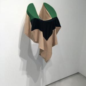 Katy Heinlein, Yolk, 2016, cloth and aluminum, 30 x 20 x 18 inches, courtesy of the artist and Art Palace Gallery, Houston, TX