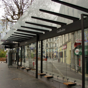 Bill Fontana, Musical Network, Lyon Lite Rail System, 2001. Image courtesy of www.resoundings.org