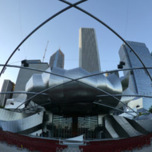 Bill Fontana, Soaring Echoes, Pritzker Pavillion, Millennium Park, Chicago, 2012. Image courtesy of www.resoundings.org