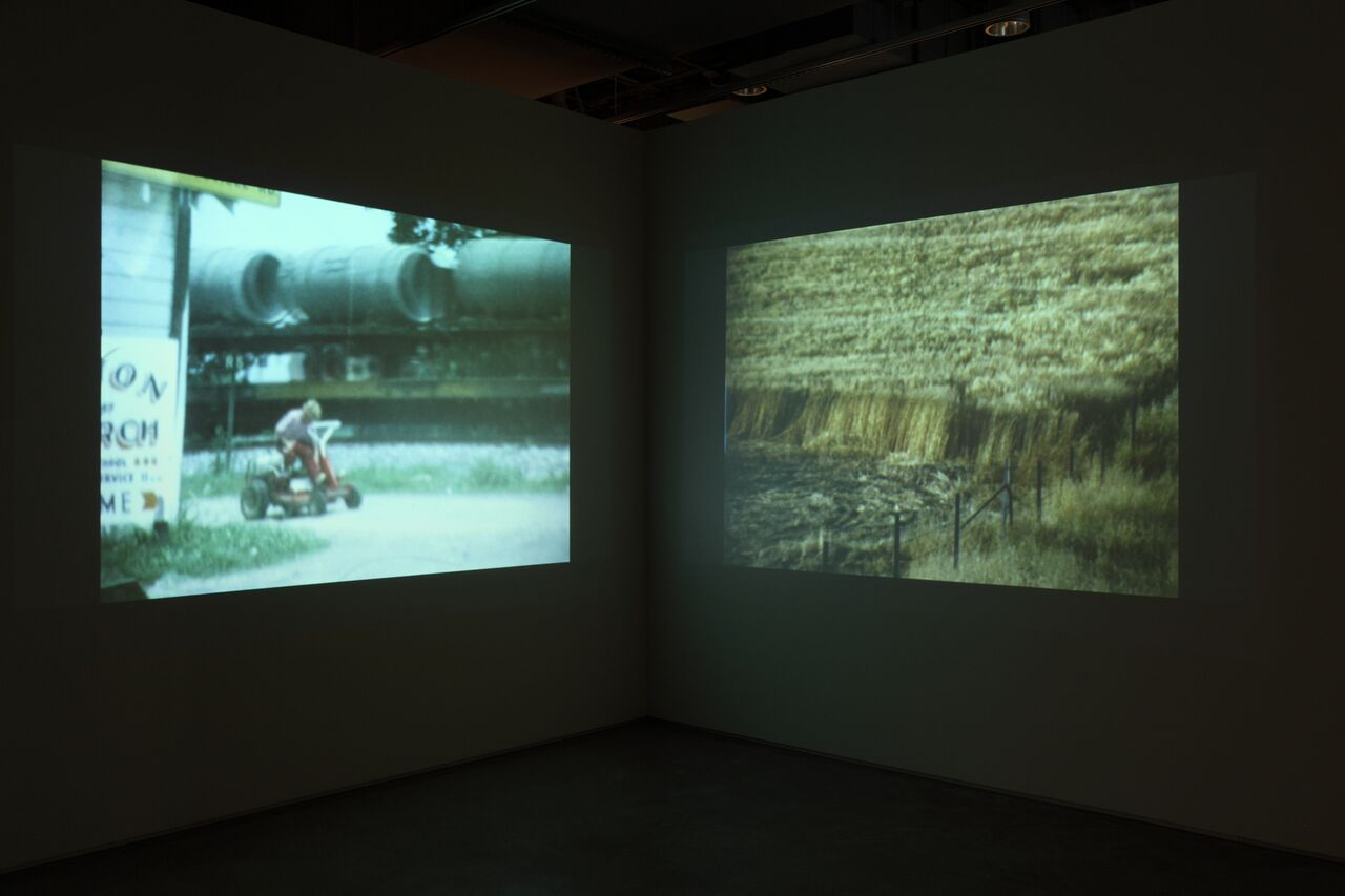 John Q, Take Me With You, 2014, two-channel video installation (video, re-created artifact), dimensions variable