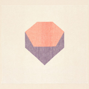 Ruth Laskey, Twill Series (Peach/Raspberry), 2015, hand-woven and hand-dyed linen, 25x27.5 inches