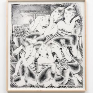 Josh Mannis, Secret Wars, 2016, ink on paper, 29.5 x 25 inches