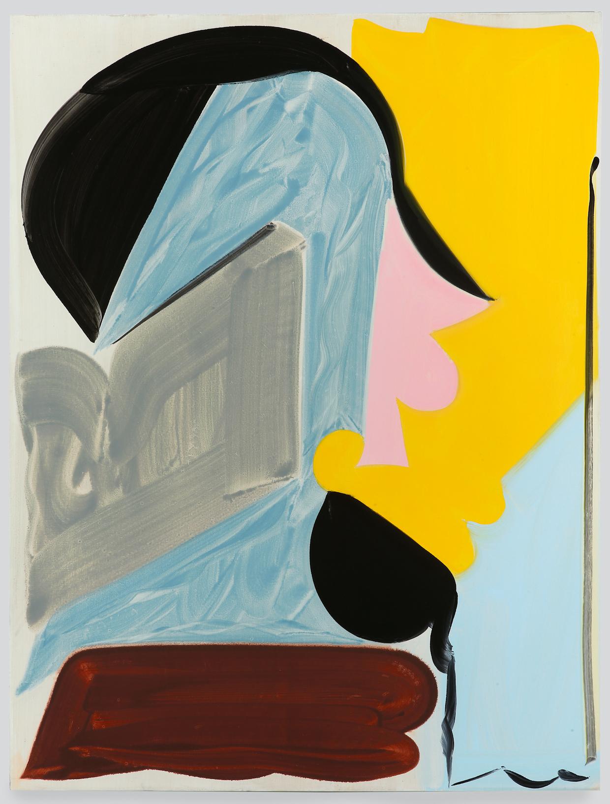 Patricia Treib, Ensemble, 2016, oil on canvas, 66 x 50 inches