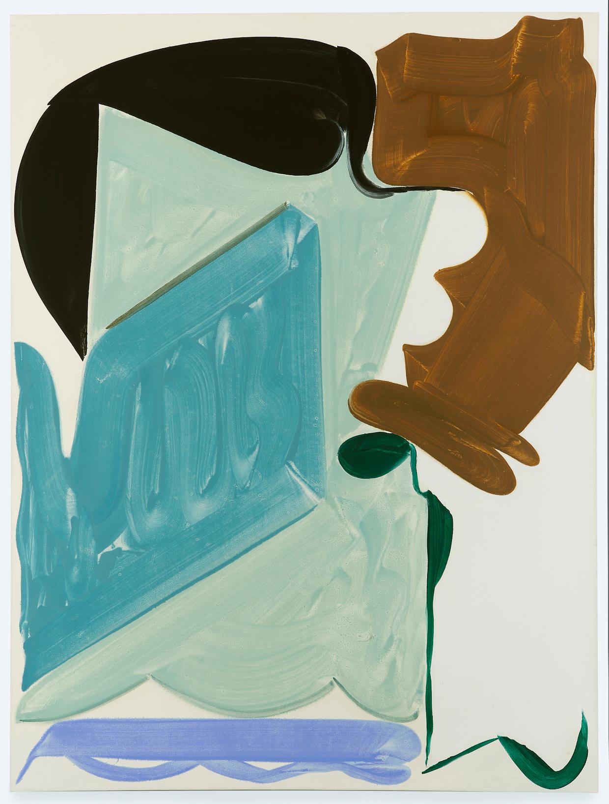 Patricia Treib, Peacock, 2016, oil on canvas, 66 x 50 inches