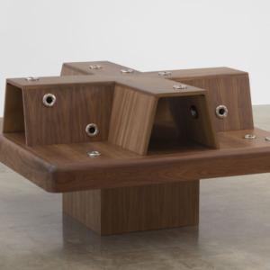 Mika Tajima, Social Chair, 2016, wood, jacuzzi nozzles, 34 x 60 x 60 inches