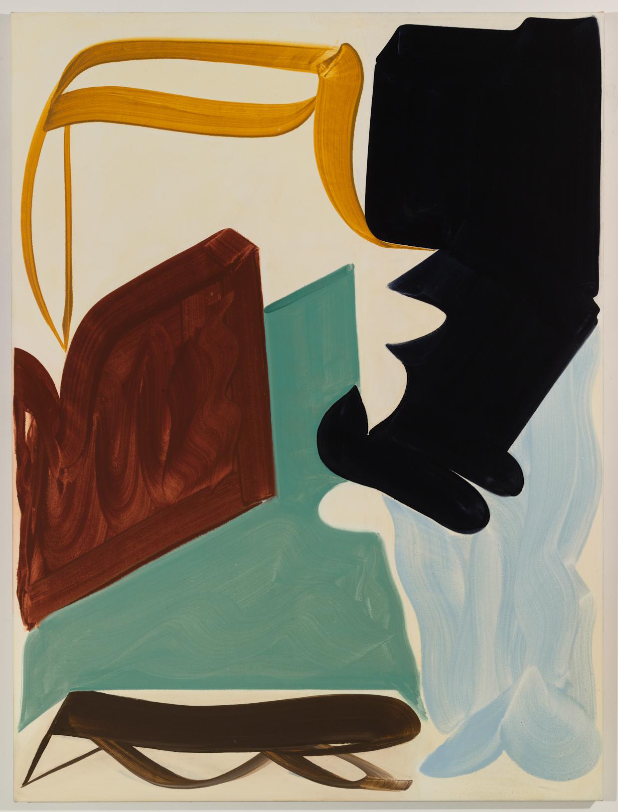 Patricia Treib, Hunters, 2016, oil on canvas, 72 x 54 inches