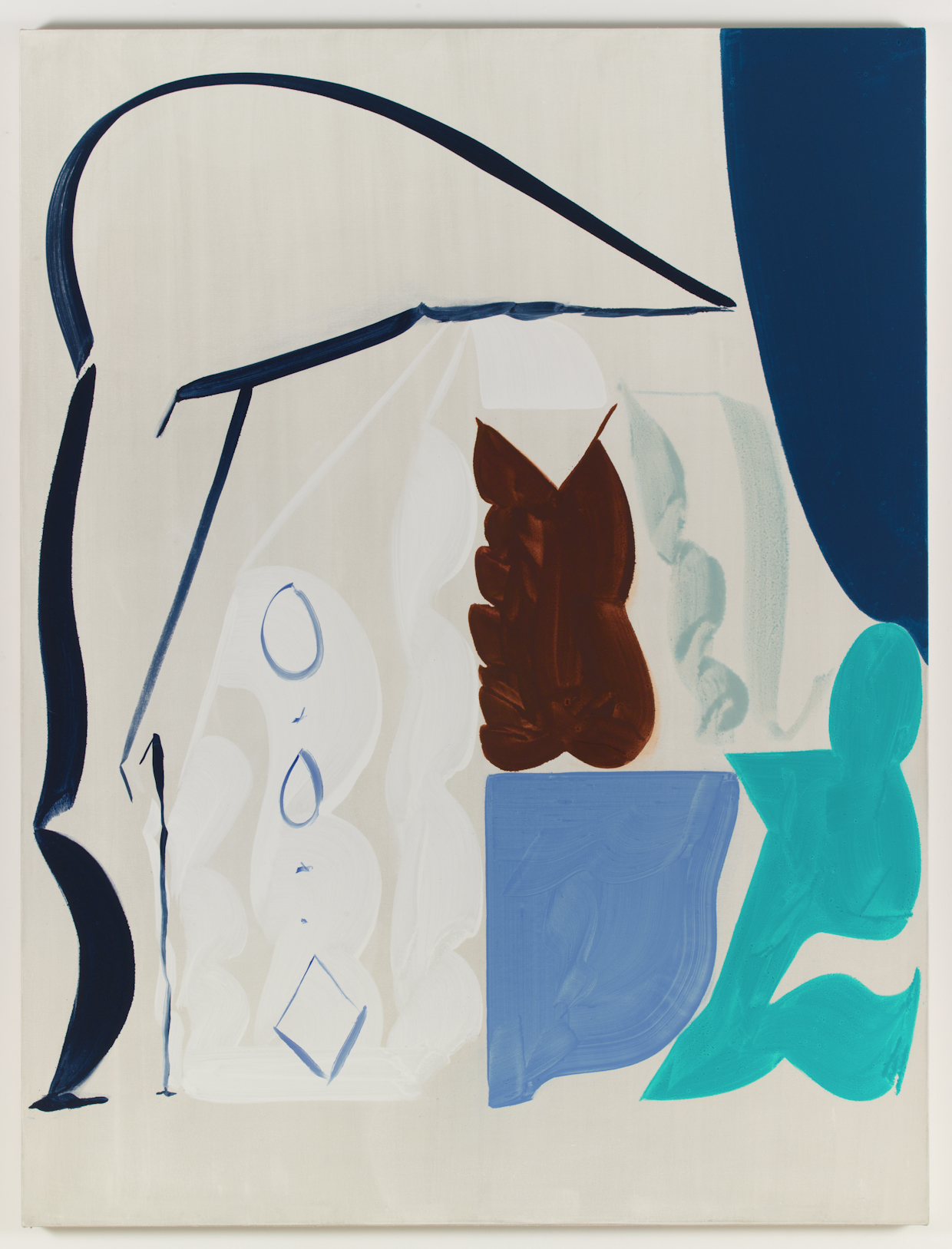 Patricia Treib, Delft Icon, 2015, oil on canvas, 66 x 50 inches