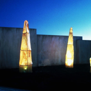Kaneem Smith, Means for Impetuous Recovery, 2009, fiberglass and steel (Installation), 10 x 3 x 3 feet each
